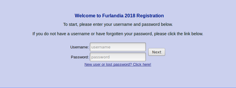 A screenshot of the login page.